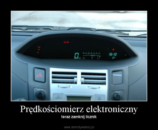 Prędkościomierz elektroniczny – teraz zamknij licznik