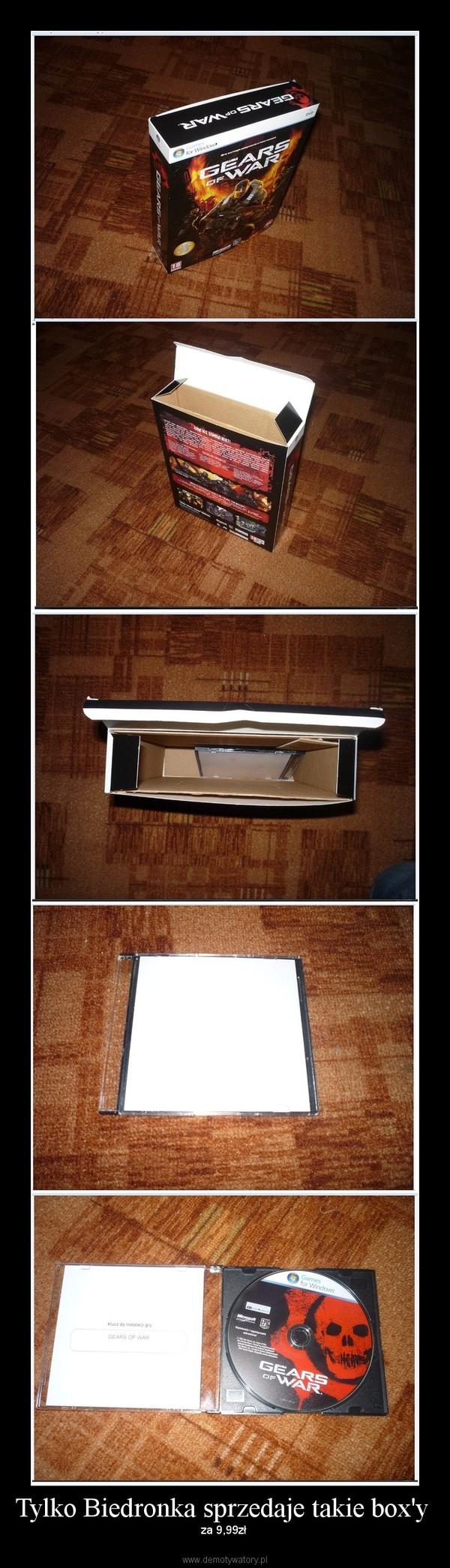 Tylko Biedronka sprzedaje takie box'y  – za 9,99zł