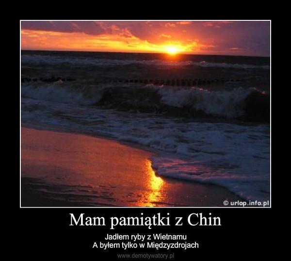 Mam pamiątki z Chin – Jadłem ryby z WietnamuA byłem tylko w Międzyzdrojach