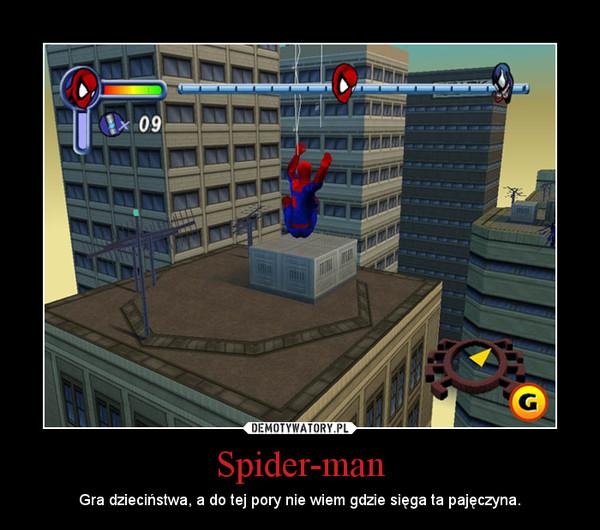 Spider-man – Gra dzieciństwa, a do tej pory nie wiem gdzie sięga ta pajęczyna.