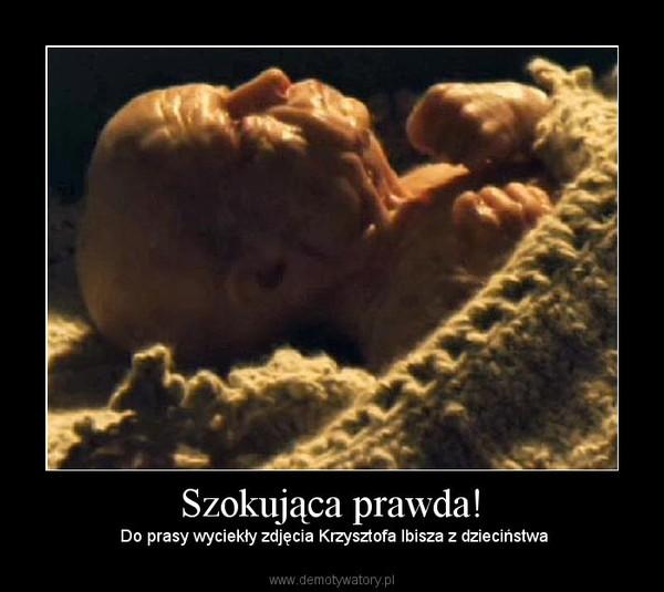 Szokująca prawda! –  Do prasy wyciekły zdjęcia Krzysztofa Ibisza z dzieciństwa