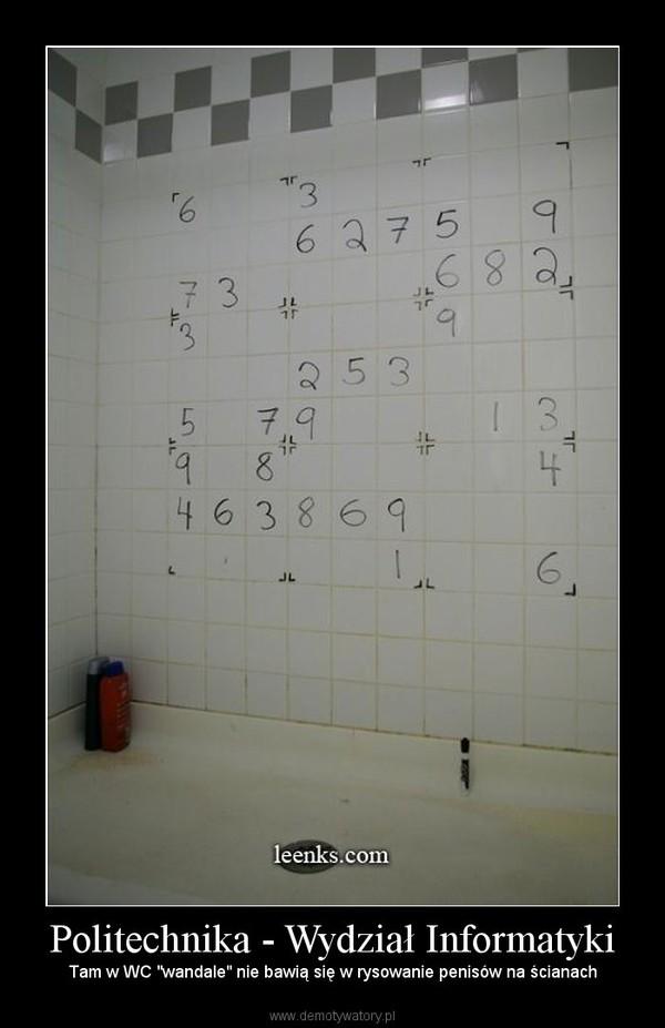 """Politechnika - Wydział Informatyki – Tam w WC """"wandale"""" nie bawią się w rysowanie penisów na ścianach"""