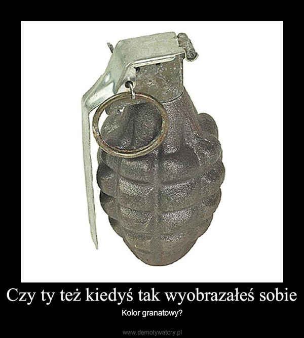 Czy ty też kiedyś tak wyobrazałeś sobie – Kolor granatowy?