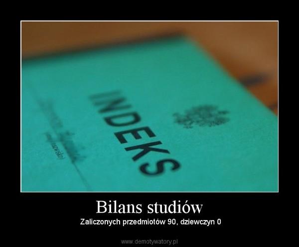 Bilans studiów