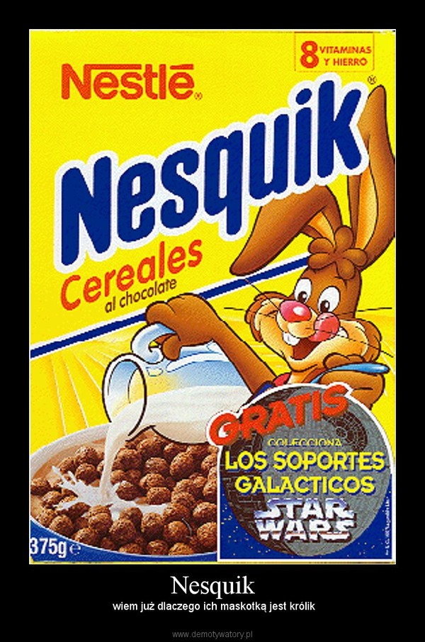 Nesquik – wiem już dlaczego ich maskotką jest królik