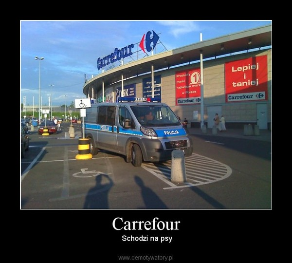 Carrefour – Schodzi na psy