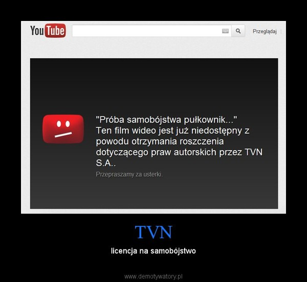TVN – licencja na samobójstwo