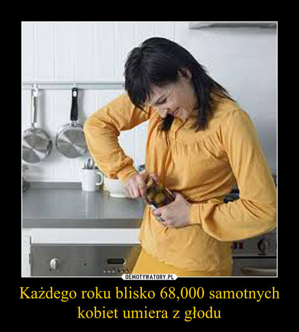 Każdego roku blisko 68,000 samotnych kobiet umiera z głodu –