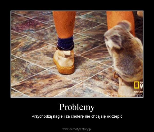 Problemy – Przychodzą nagle i za cholerę nie chcą się odczepić