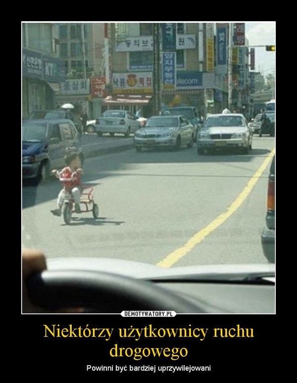 Niektórzy użytkownicy ruchu drogowego – Powinni być bardziej uprzywilejowani