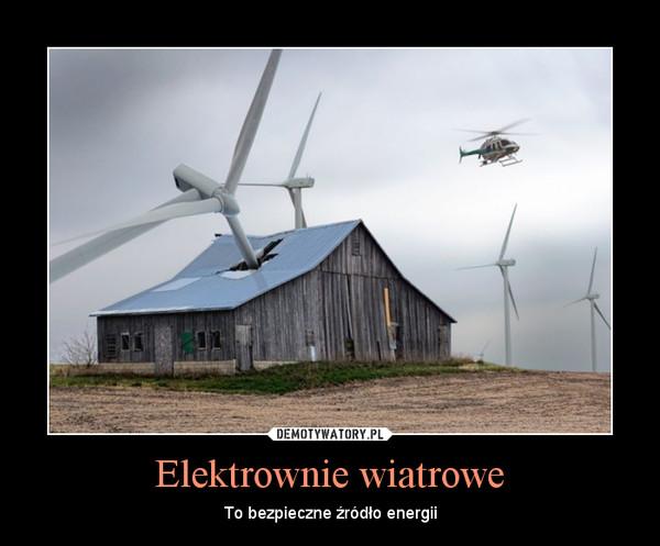 Elektrownie wiatrowe – To bezpieczne źródło energii
