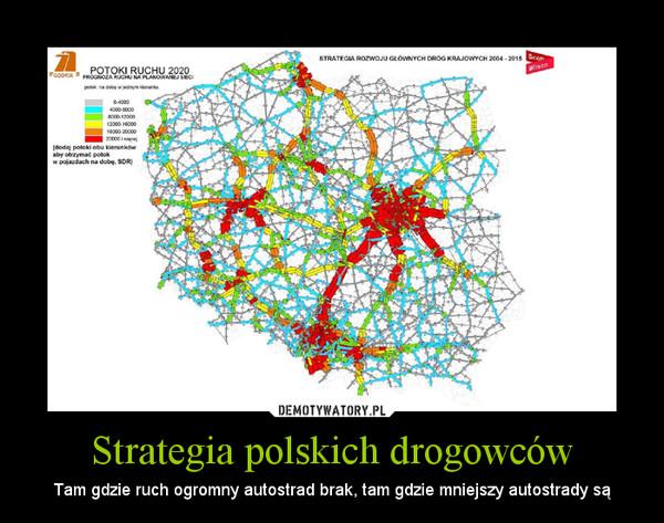 Strategia polskich drogowców – Tam gdzie ruch ogromny autostrad brak, tam gdzie mniejszy autostrady są