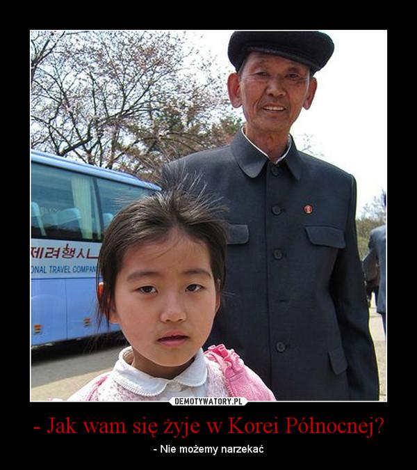 - Jak wam się żyje w Korei Północnej? – - Nie możemy narzekać