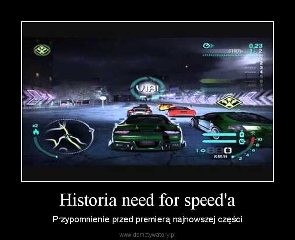 Historia need for speed'a – Przypomnienie przed premierą najnowszej części