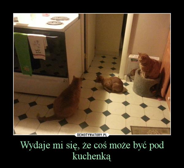 Wydaje mi się, że coś może być pod kuchenką –