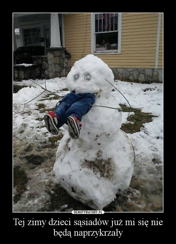 Tej zimy dzieci sąsiadów już mi się nie będą naprzykrzały –