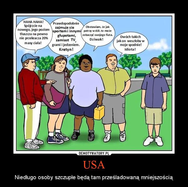 USA – Niedługo osoby szczupłe będą tam prześladowaną mniejszością
