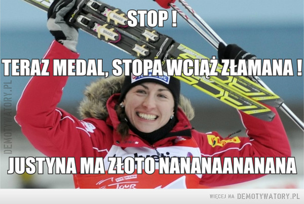 Justyna ma złoto! –