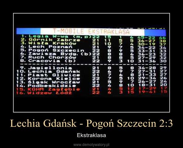 Lechia Gdańsk - Pogoń Szczecin 2:3 – Ekstraklasa