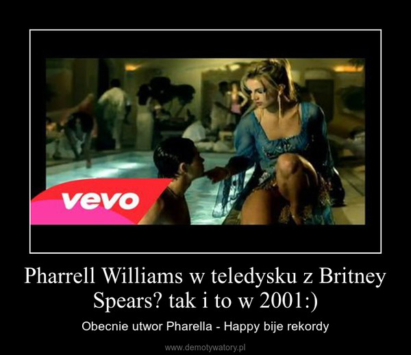 Pharrell Williams w teledysku z Britney Spears? tak i to w 2001:) – Obecnie utwor Pharella - Happy bije rekordy