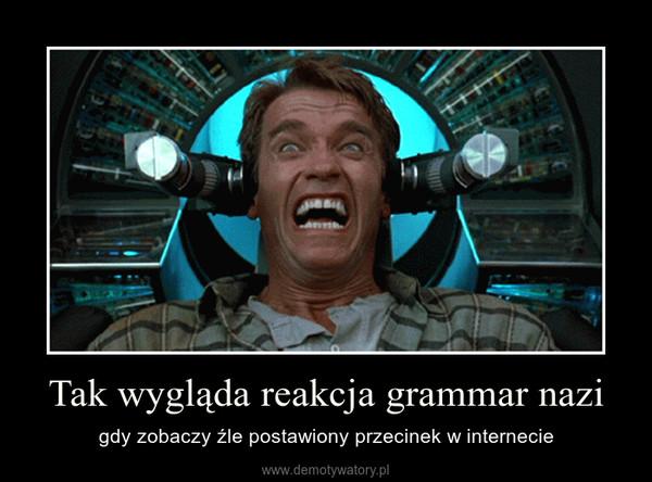 Tak wygląda reakcja grammar nazi – gdy zobaczy źle postawiony przecinek w internecie