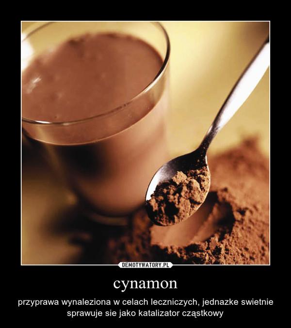 cynamon – przyprawa wynaleziona w celach leczniczych, jednazke swietnie sprawuje sie jako katalizator cząstkowy
