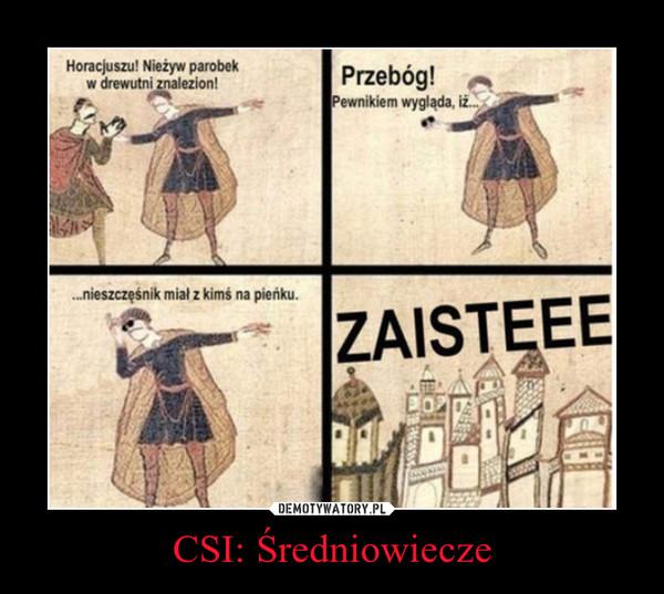 CSI: Średniowiecze –