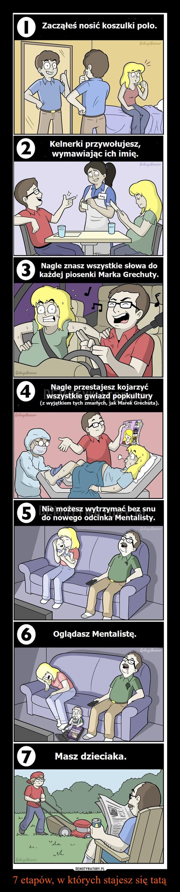 7 etapów, w których stajesz się tatą –