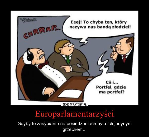 Europarlamentarzyści – Gdyby to zasypianie na posiedzeniach było ich jedynym grzechem...