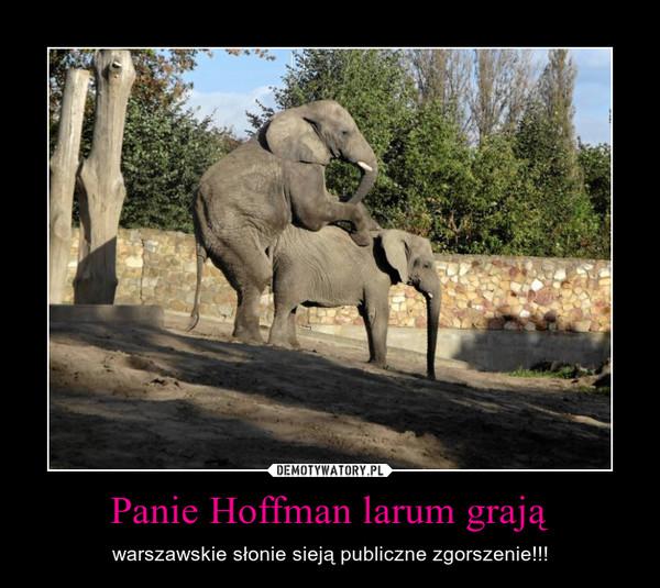 Panie Hoffman larum grają – warszawskie słonie sieją publiczne zgorszenie!!!