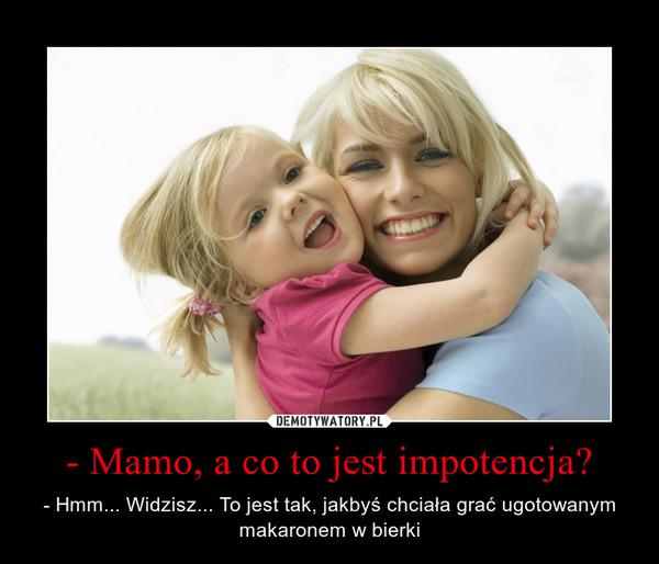 co to jest impotencja)