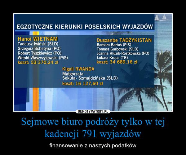 Sejmowe biuro podróży tylko w tej kadencji 791 wyjazdów – finansowanie z naszych podatków