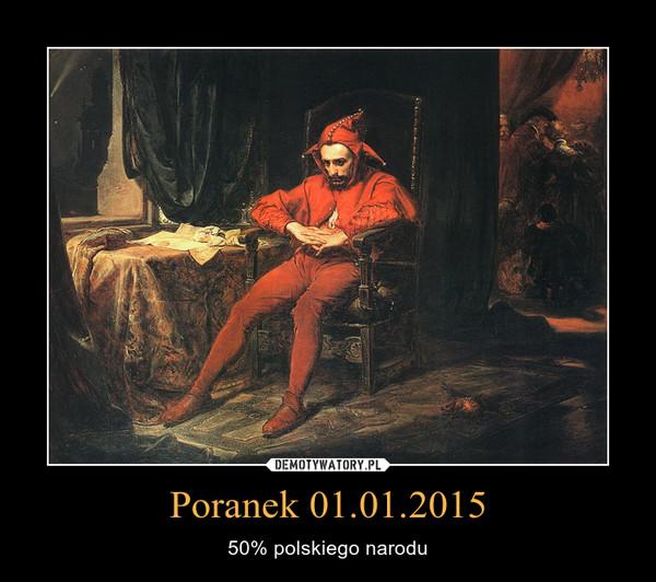 Poranek 01.01.2015 – 50% polskiego narodu
