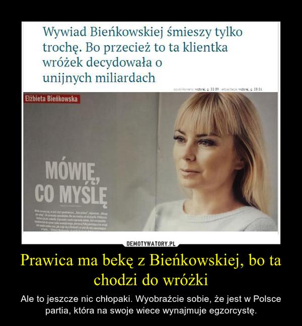 Prawica ma bekę z Bieńkowskiej, bo ta chodzi do wróżki – Ale to jeszcze nic chłopaki. Wyobraźcie sobie, że jest w Polsce partia, która na swoje wiece wynajmuje egzorcystę.