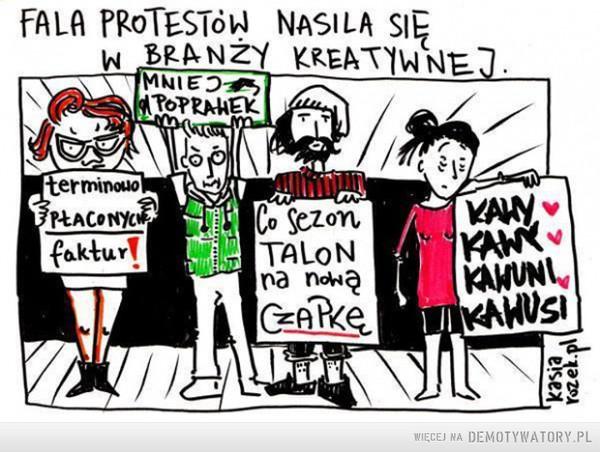 Fala protestów –