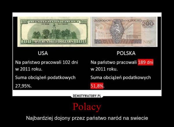 Polacy – Najbardziej dojony przez państwo naród na swiecie