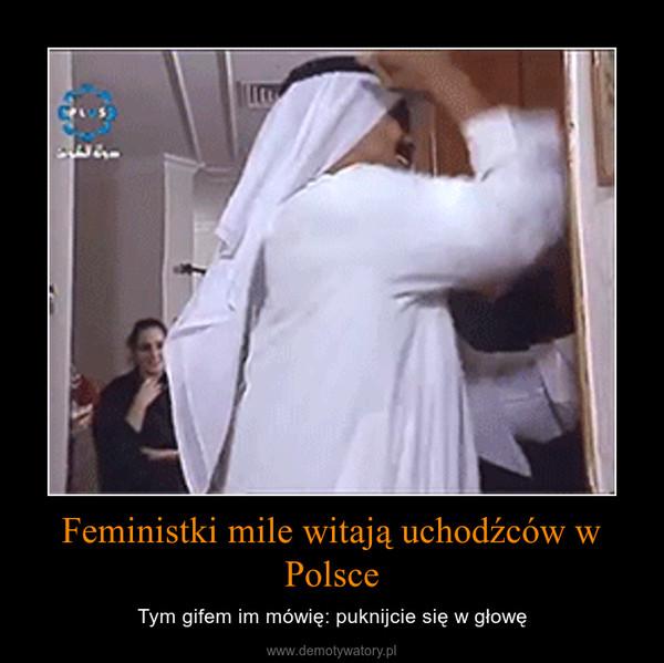 Feministki mile witają uchodźców w Polsce – Tym gifem im mówię: puknijcie się w głowę