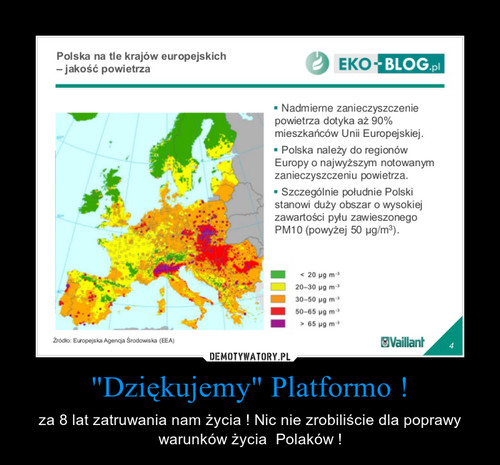 """Dziękujemy"" Platformo !"