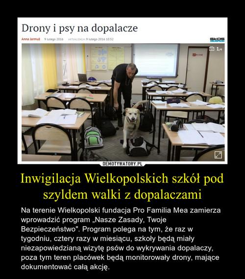 Inwigilacja Wielkopolskich szkół pod szyldem walki z dopalaczami