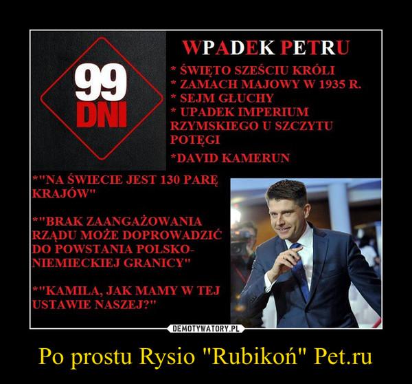 """Po prostu Rysio """"Rubikoń"""" Pet.ru –"""