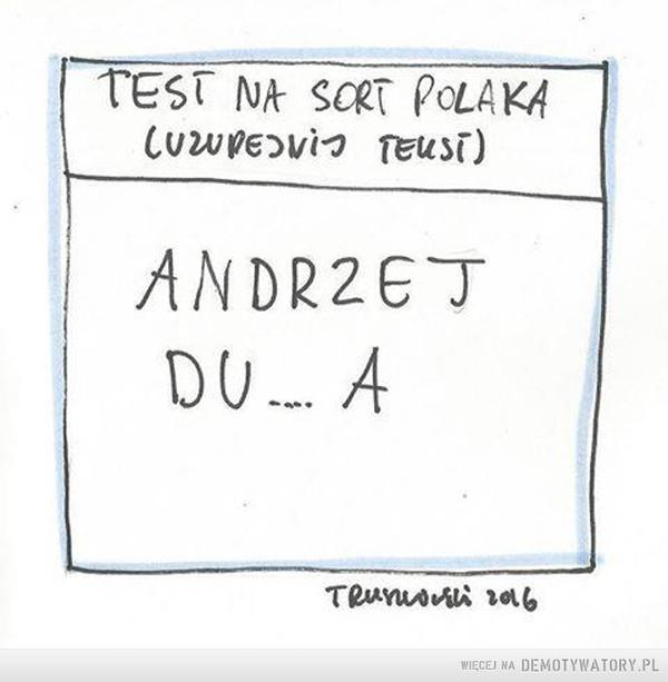 Test na sort Polaka –