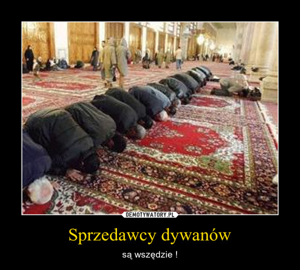 Sprzedawcy dywanów – są wszędzie !