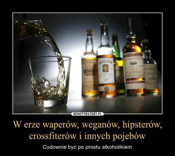 W erze waperów, weganów, hipsterów, crossfiterów i innych pojebów – Cudownie być po prostu alkoholikiem