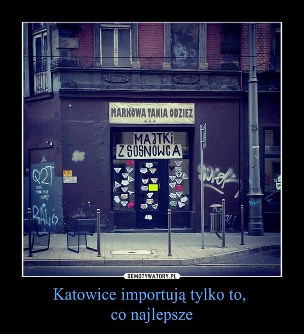 Katowice importują tylko to, co najlepsze –