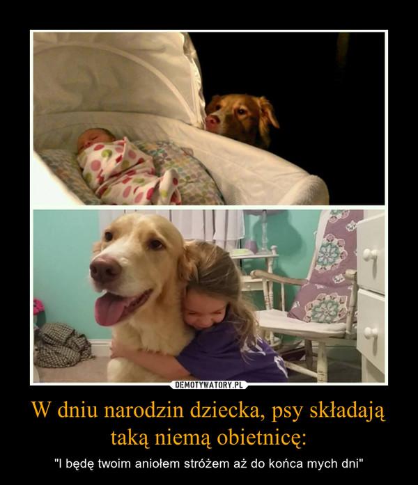 """W dniu narodzin dziecka, psy składają taką niemą obietnicę: – """"I będę twoim aniołem stróżem aż do końca mych dni"""""""