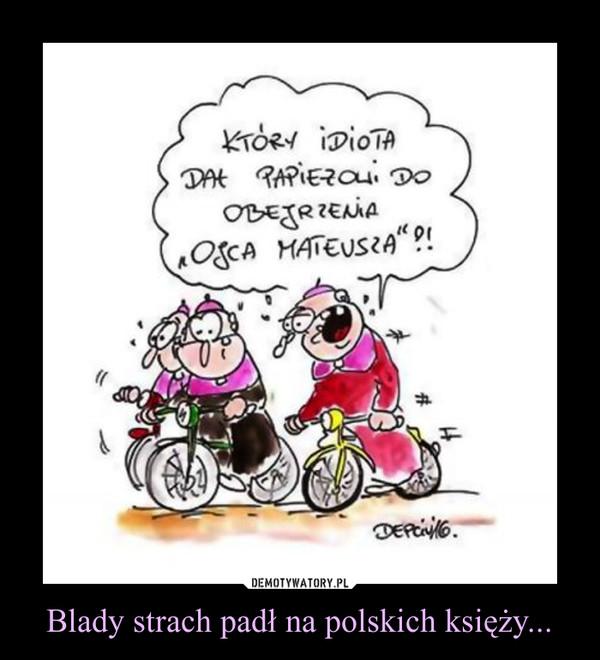 """Blady strach padł na polskich księży... –  KTÓRY IDIOTA DAŁ PAPIEŻOWI DO OBEJRZENIA """"OJCA MATEUSZA""""!?"""