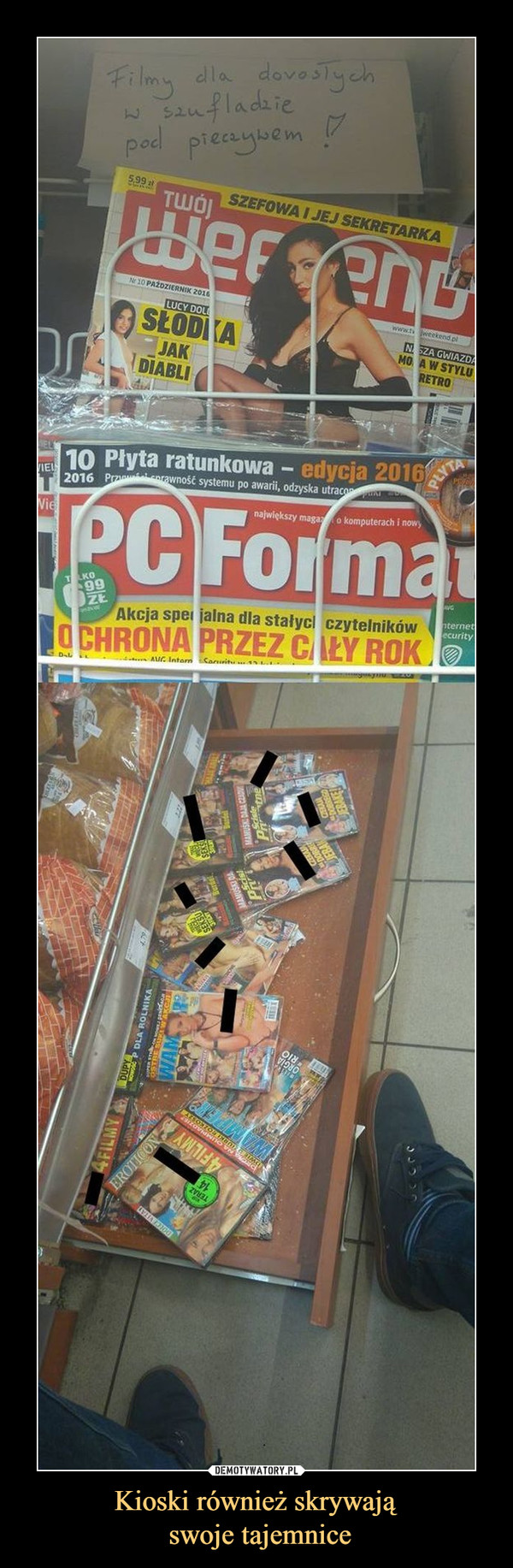 Kioski również skrywają swoje tajemnice –