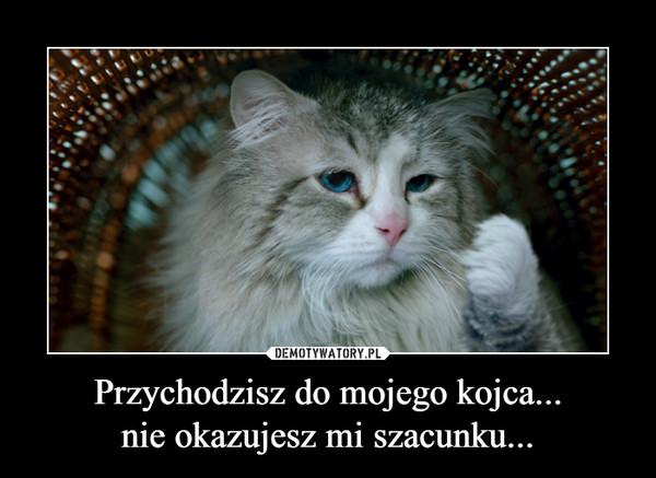Przychodzisz do mojego kojca...nie okazujesz mi szacunku... –