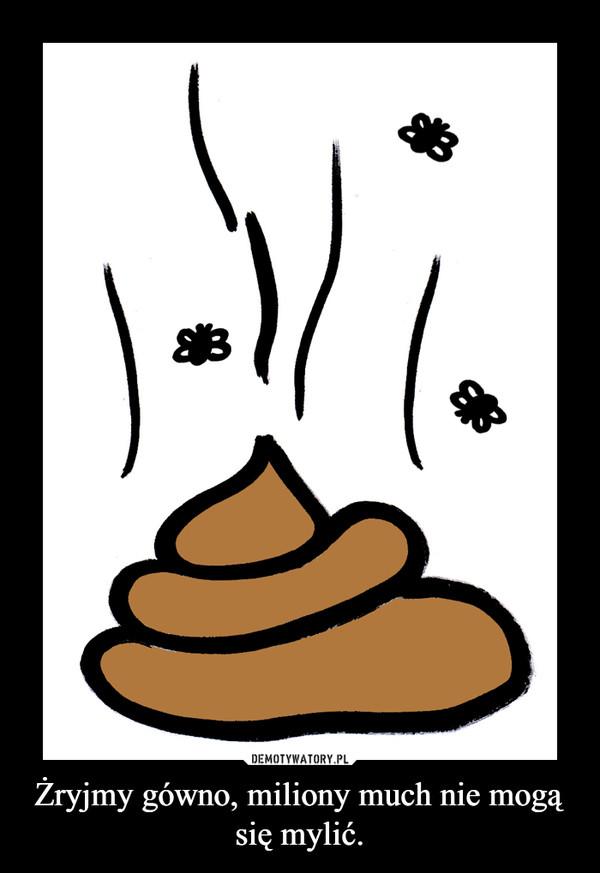 Żryjmy gówno, miliony much nie mogą się mylić. –