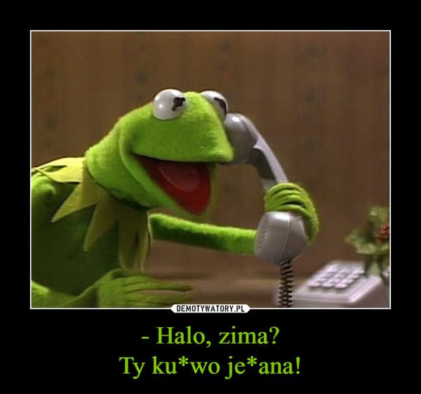 - Halo, zima?Ty ku*wo je*ana! –